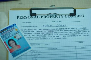 drivers license and property control form