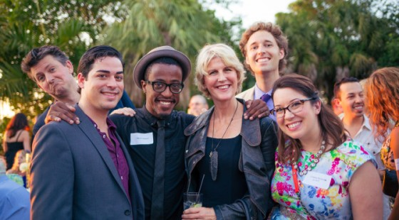 WTPE cast and crew at SFF announcement party
